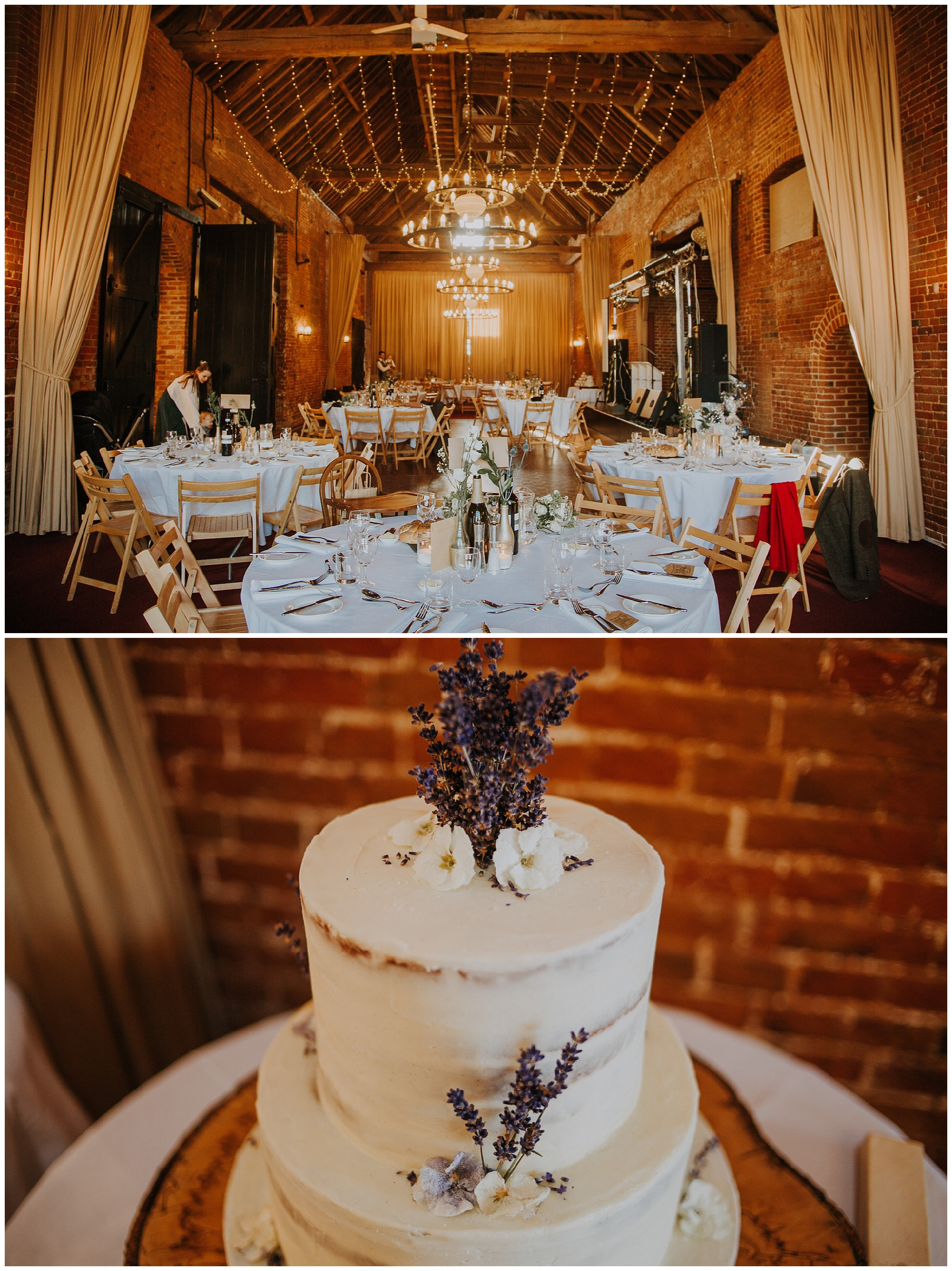 wedding cake and venue decor