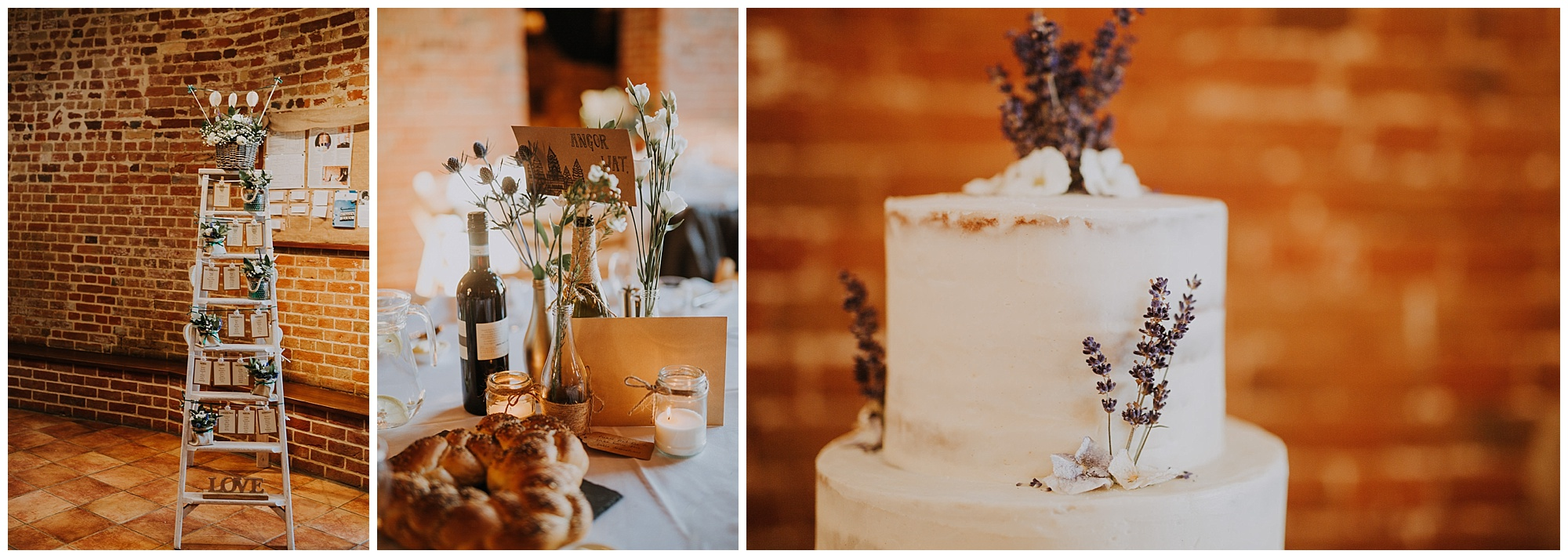 wedding cake and baked bread