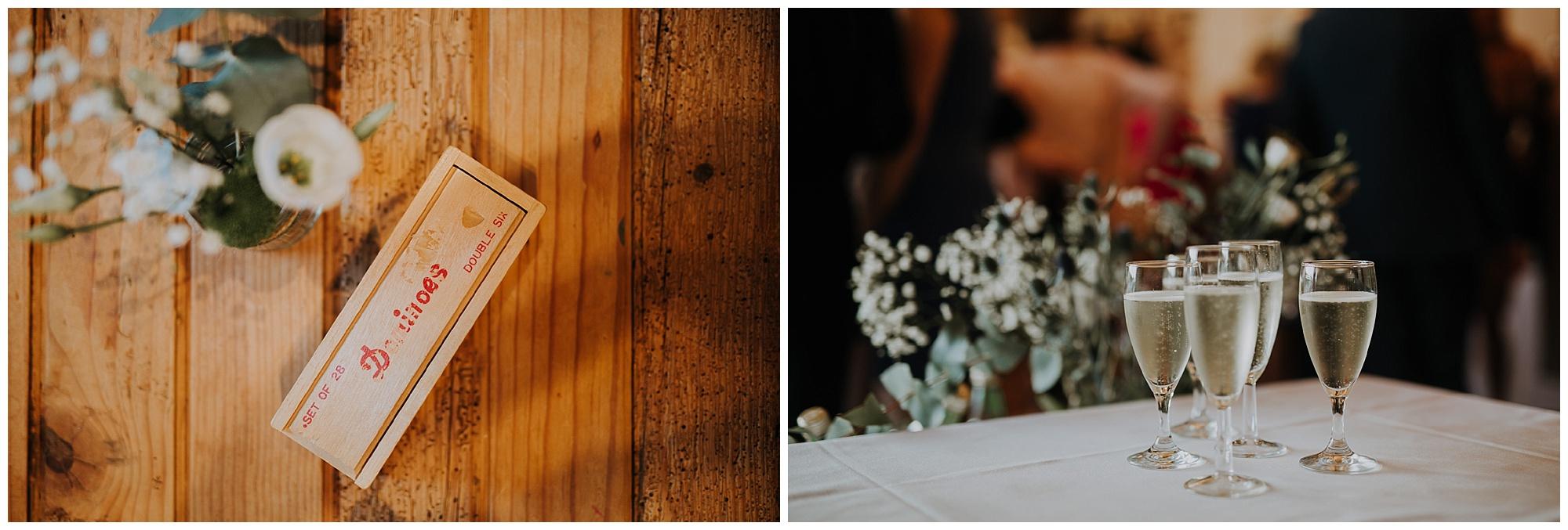 vintage dominoes set and florals