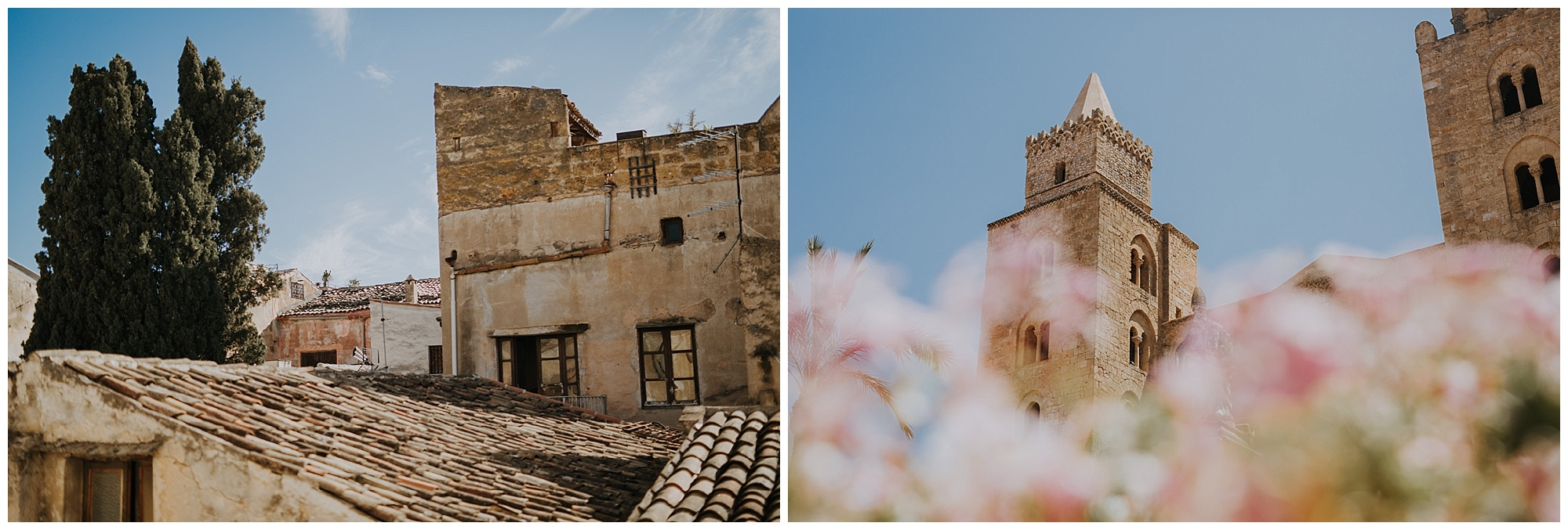 cefalu cathedral and florals