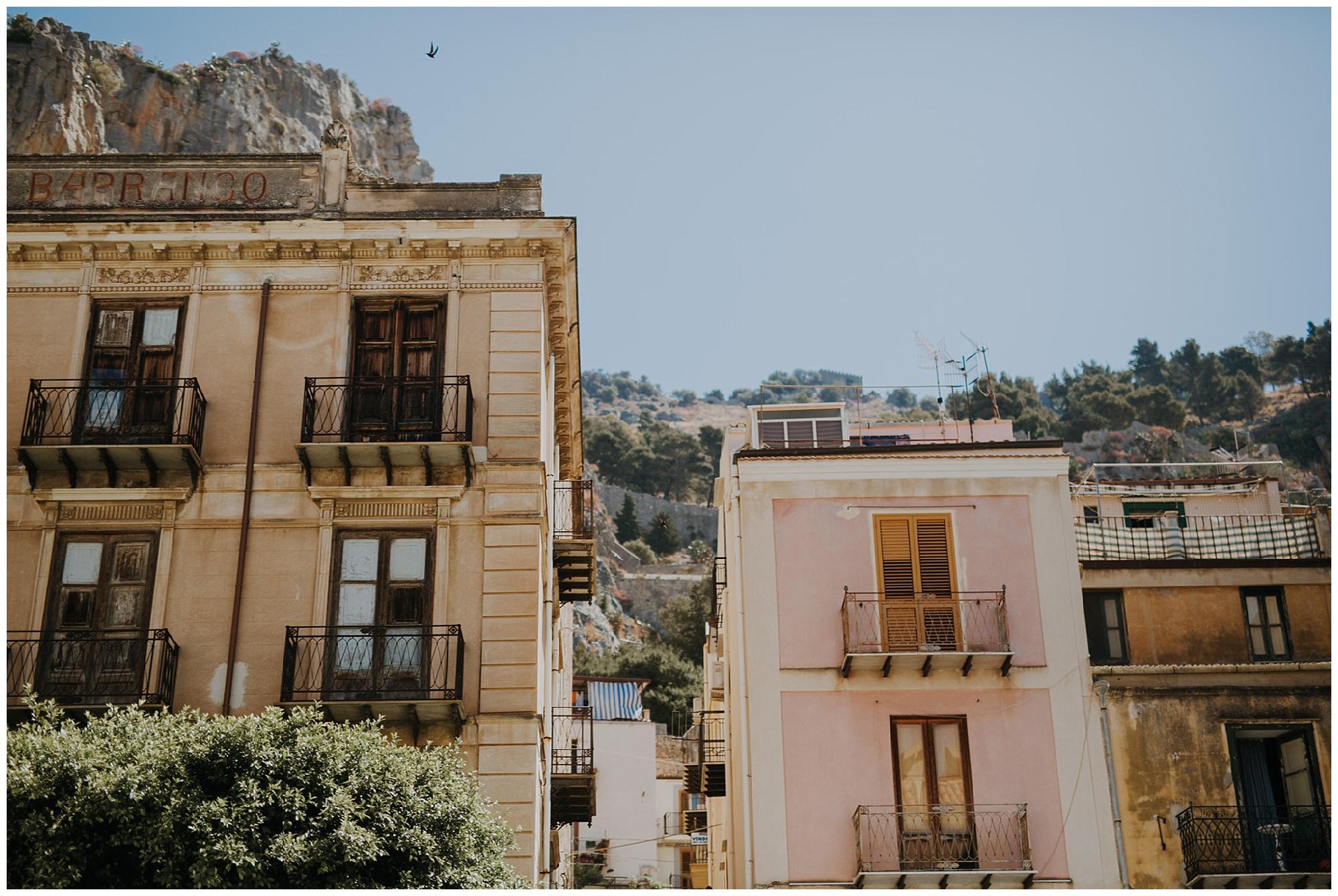 the buildings of cefalu