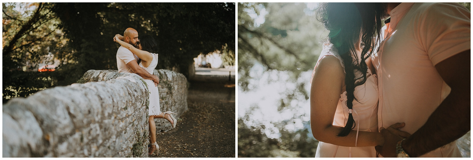 engagement session with a couple