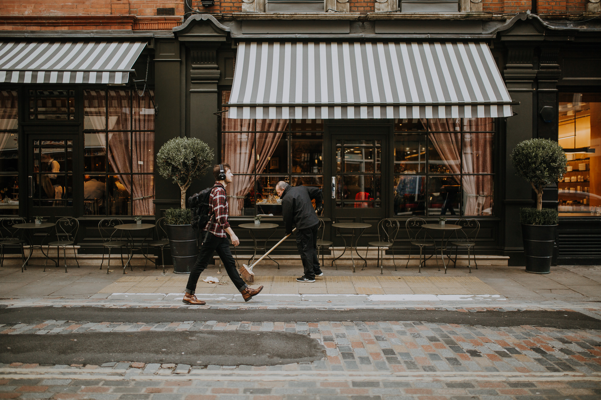 A man walks through seven dials