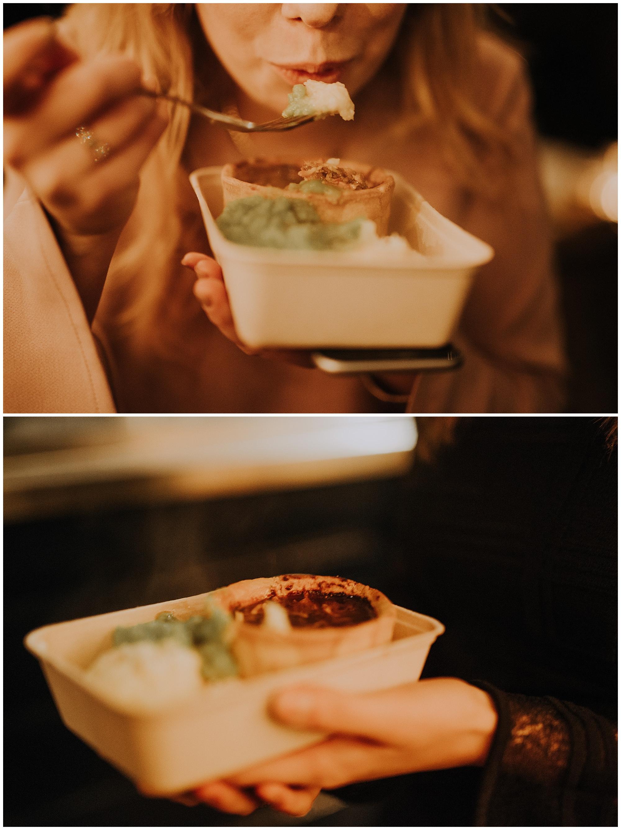 close ups of pie dish