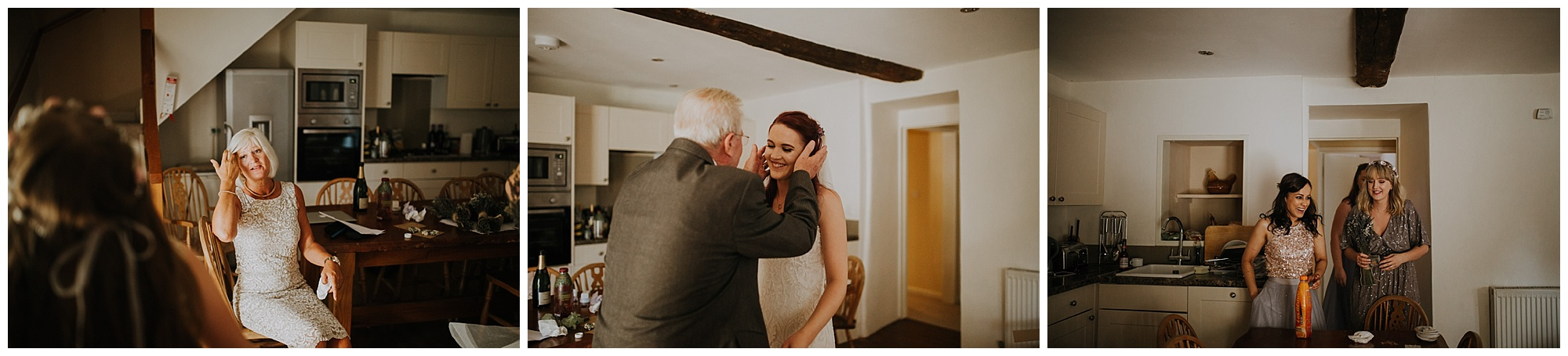 grandfather sees the bride for the first time
