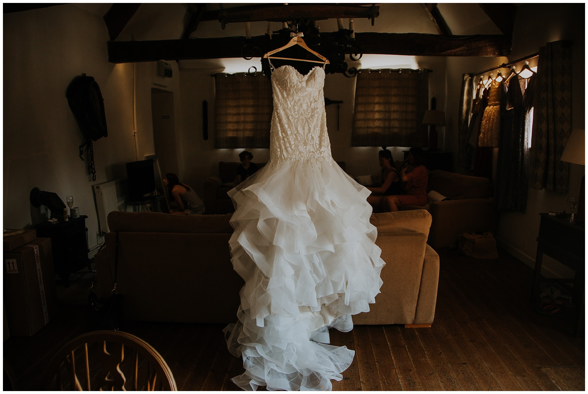 wedding dress in situ