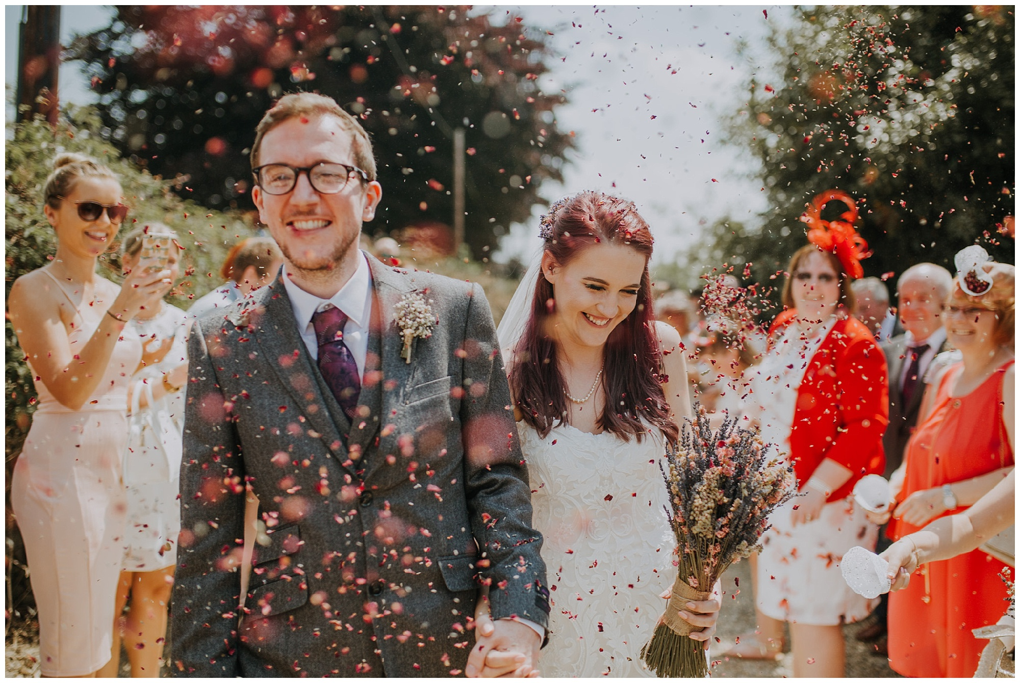 confetti shot at great tythe barn