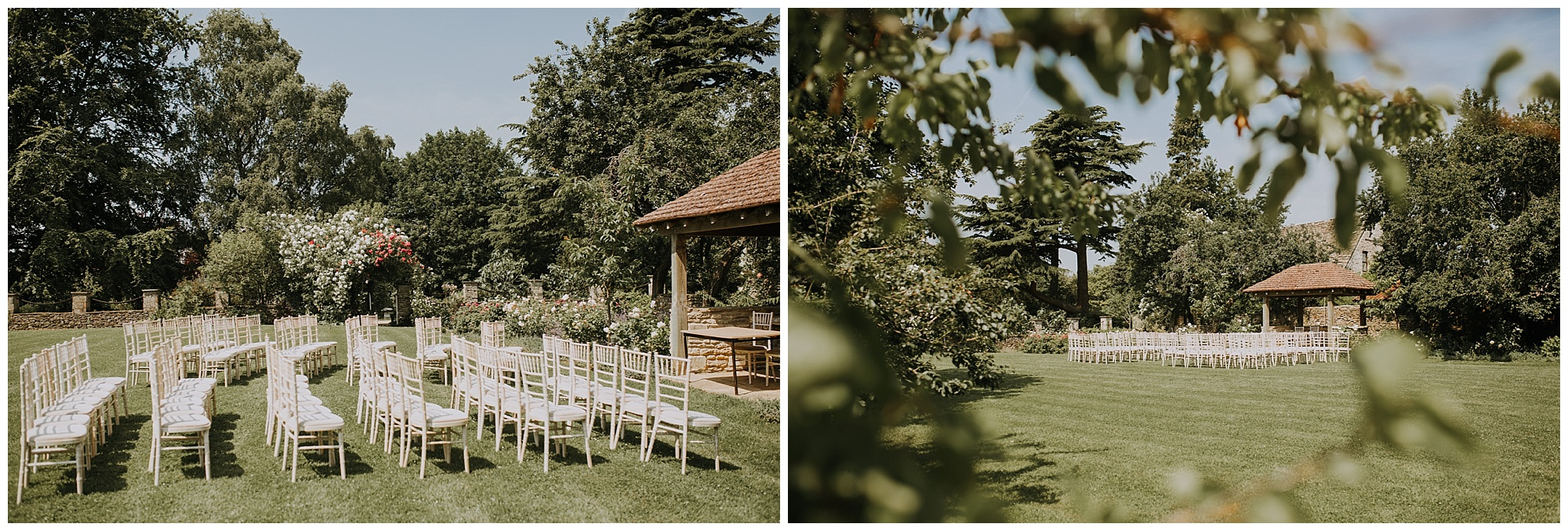 summer wedding outdoors with seating