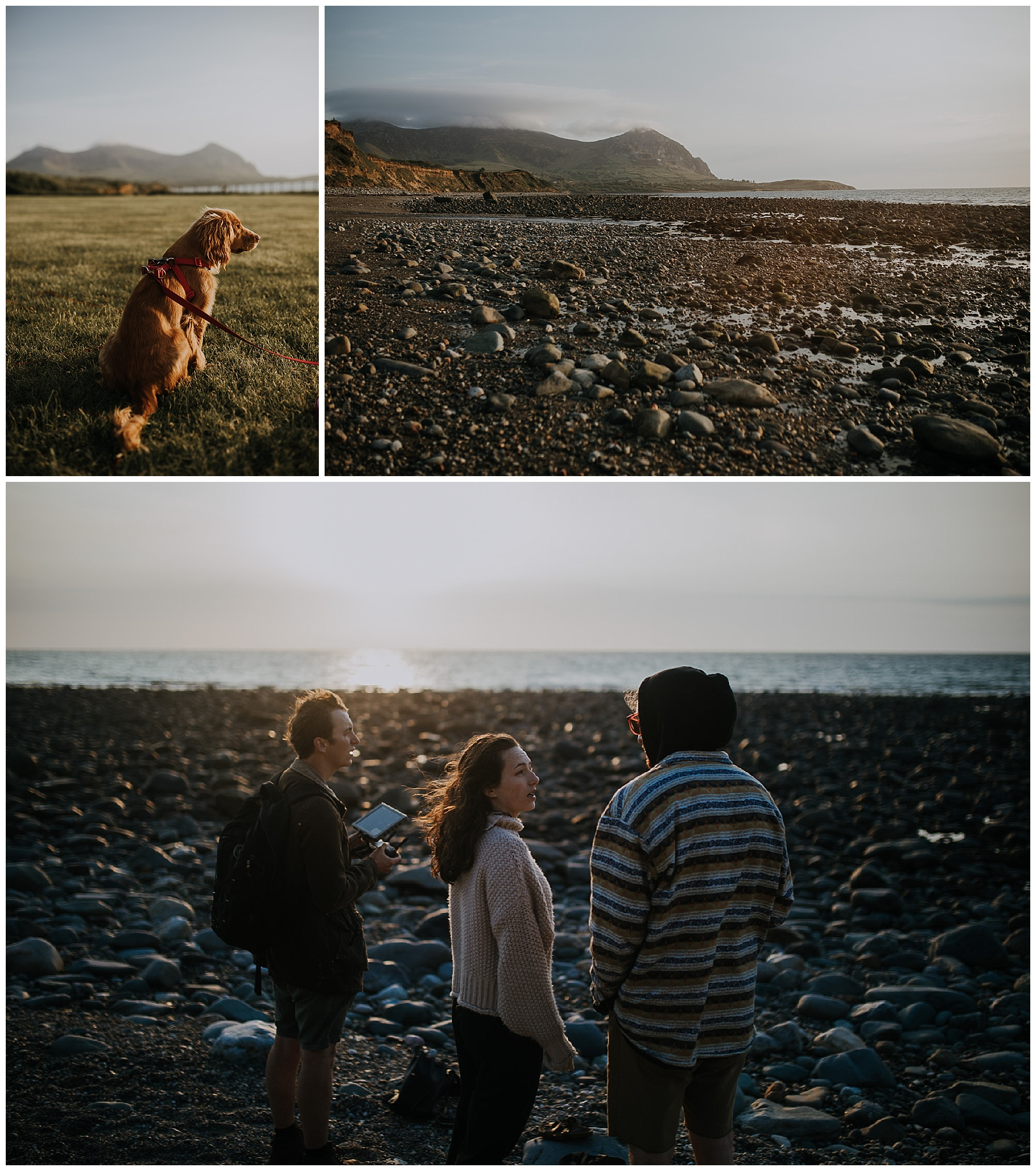 friends gather on the coast
