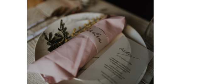 a table is styled for a wedding