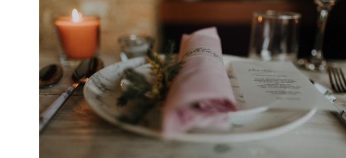 a napkin up close