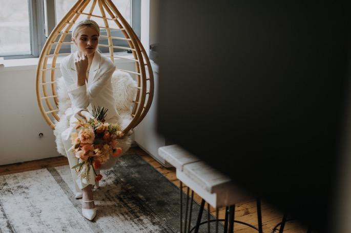 the bride contemplates
