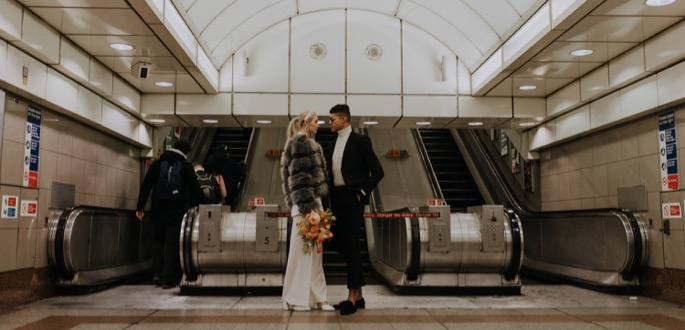 portrait in a tube station