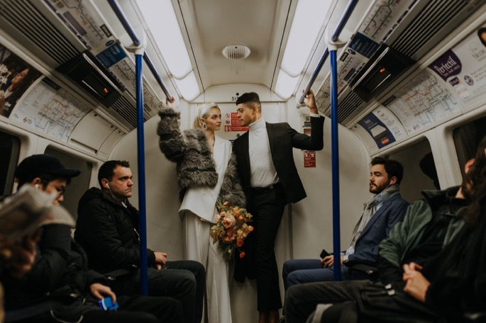 a photograph taken on the tube itself