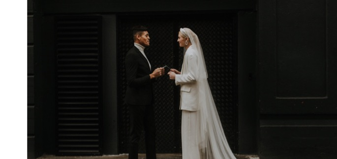 they read their vows to one another