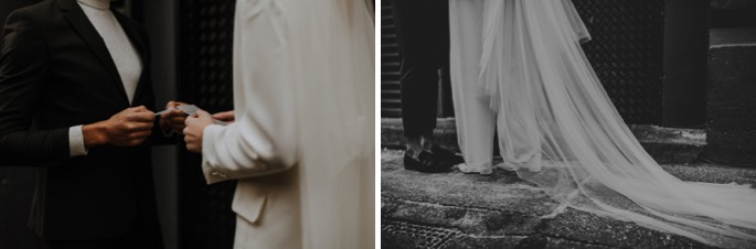 close ups of their shoes and hands