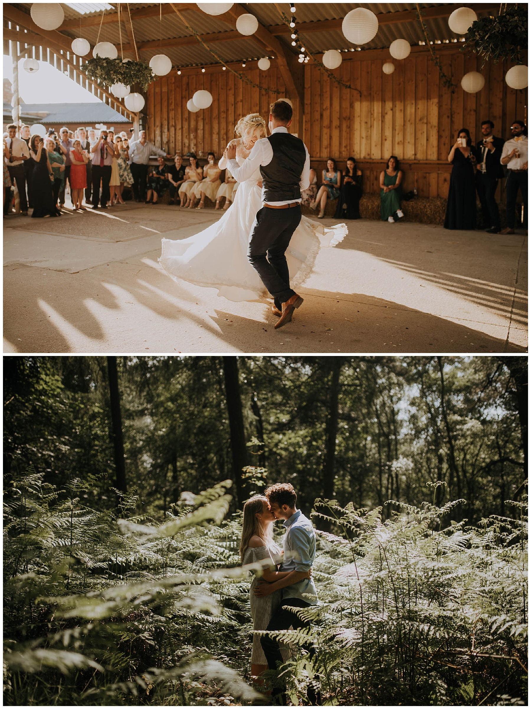 couples dance together on their wedding day