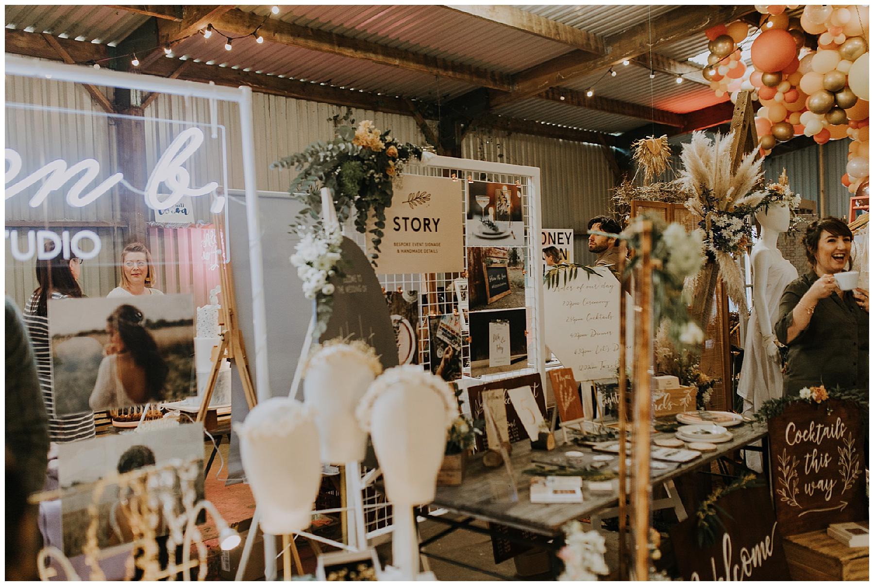 wedding fair stands