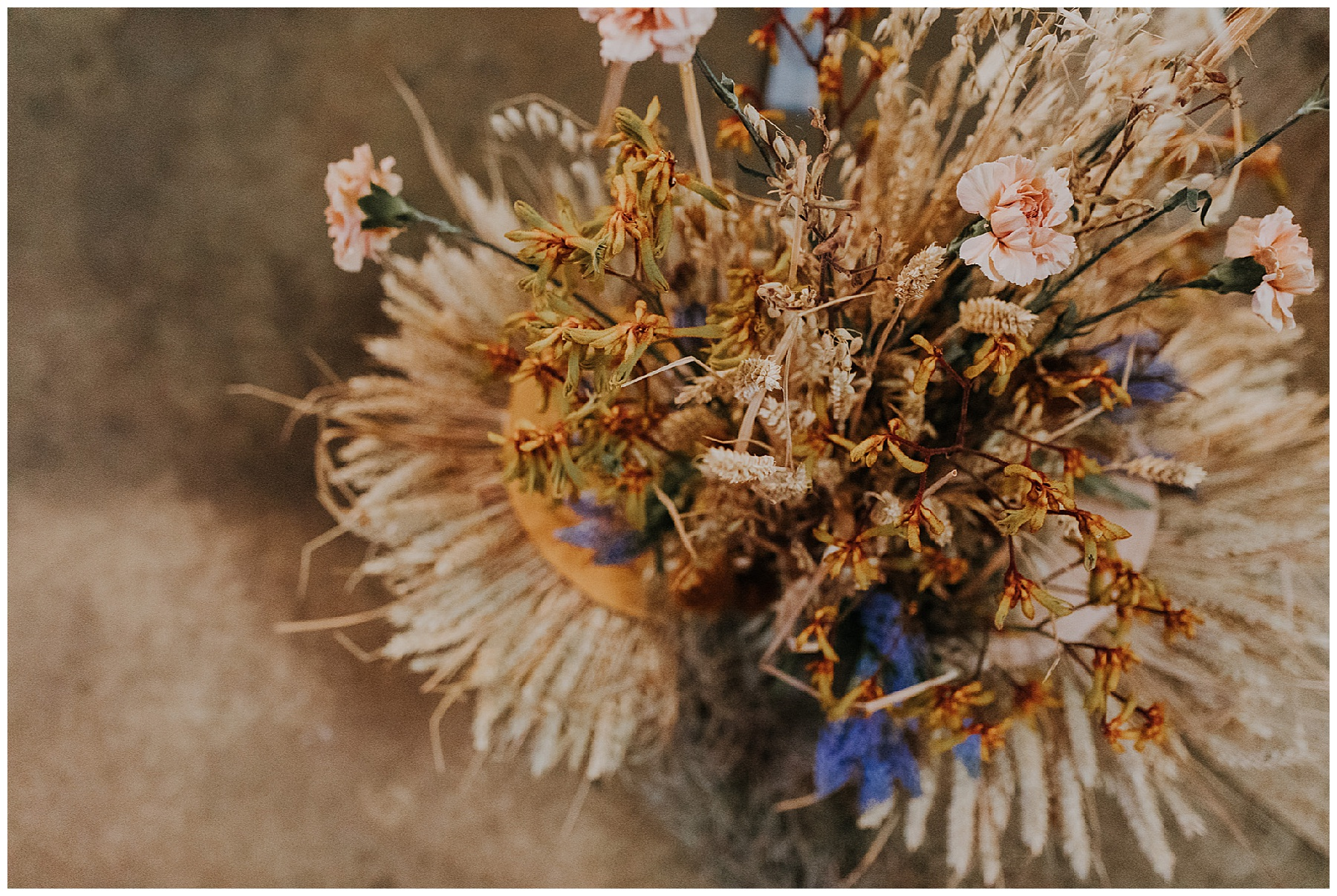 dried flowers in a bunch