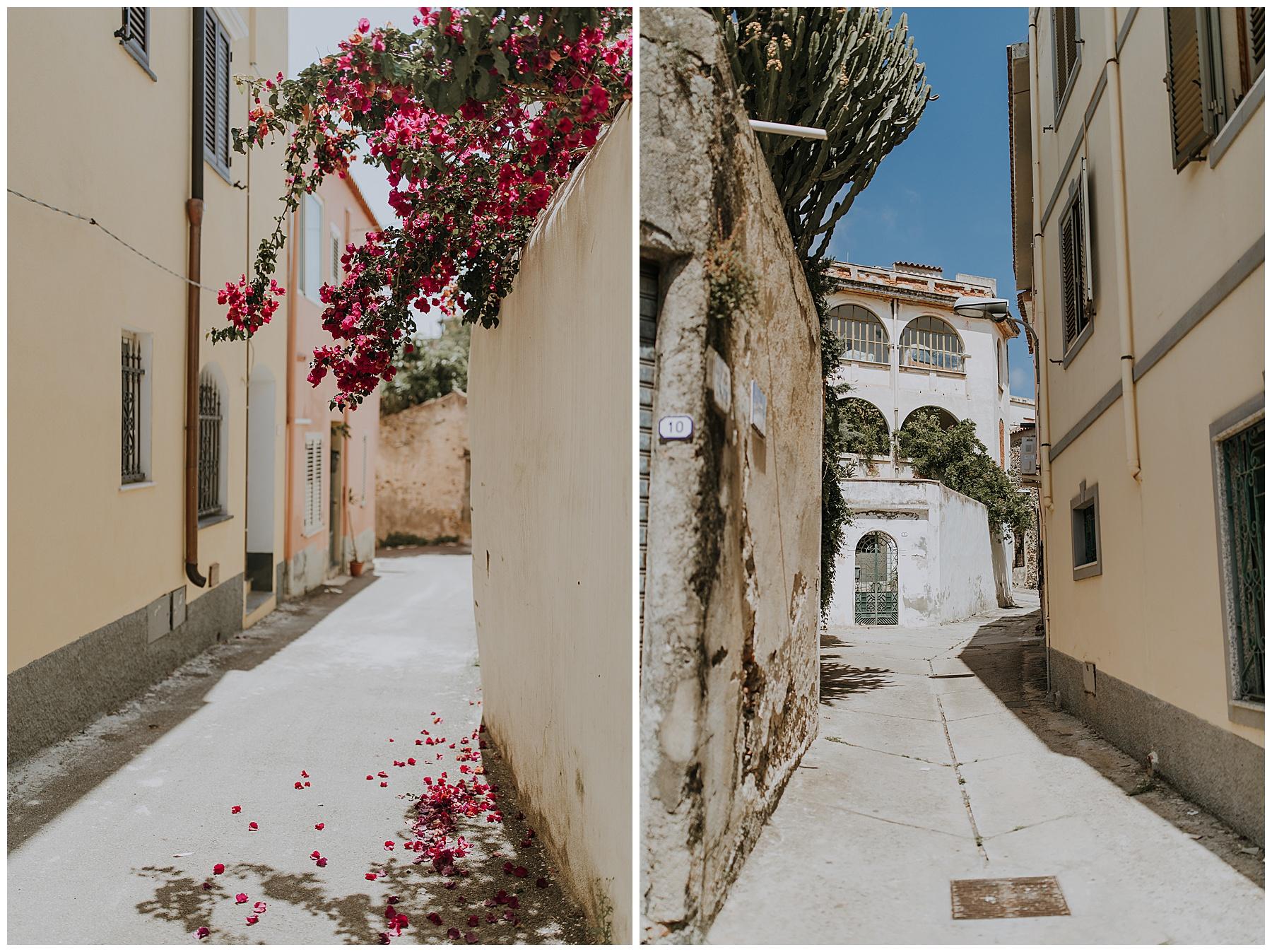 the bright streets of Orosei, Sardinia