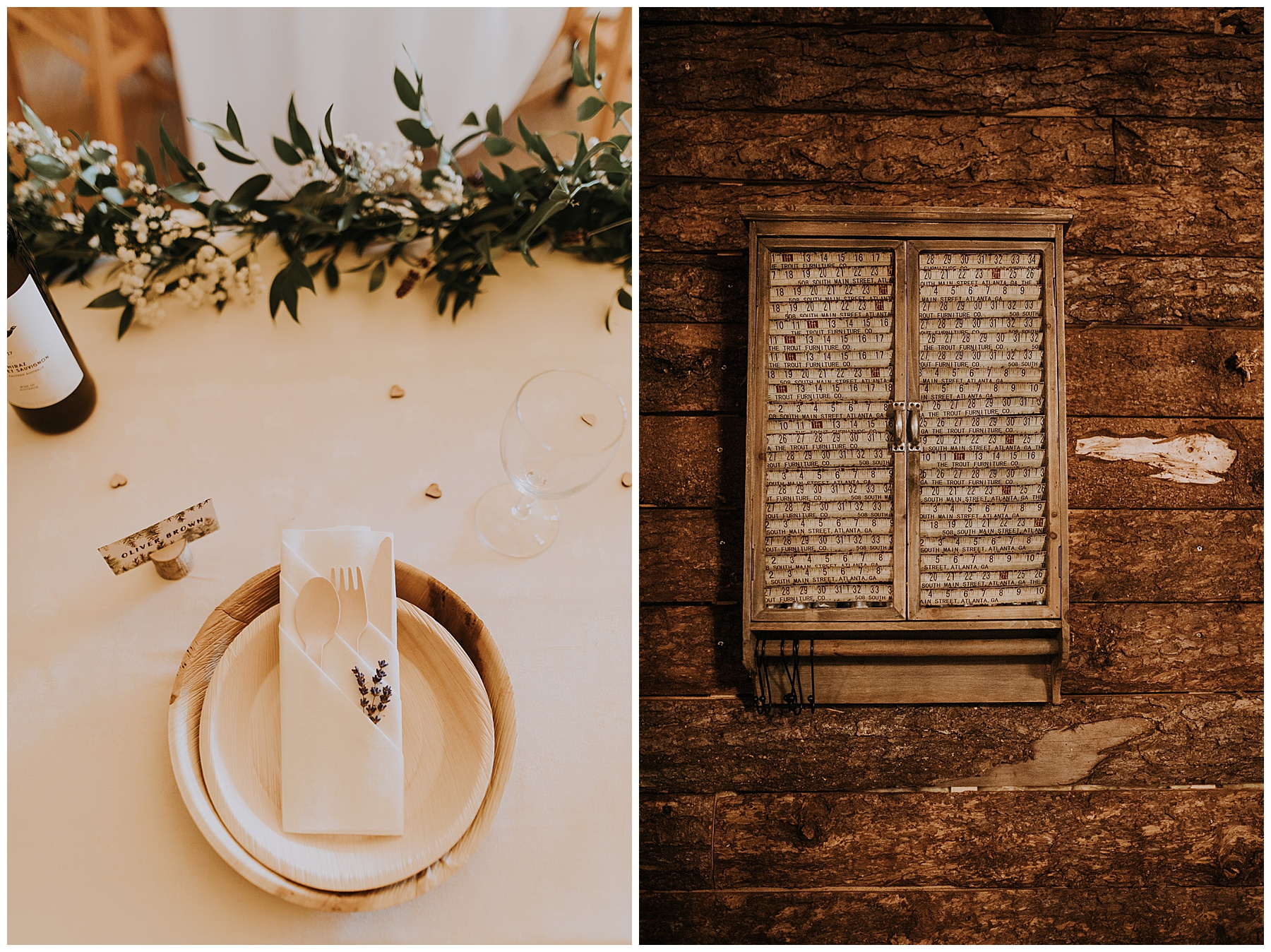 wedding day details and place settings