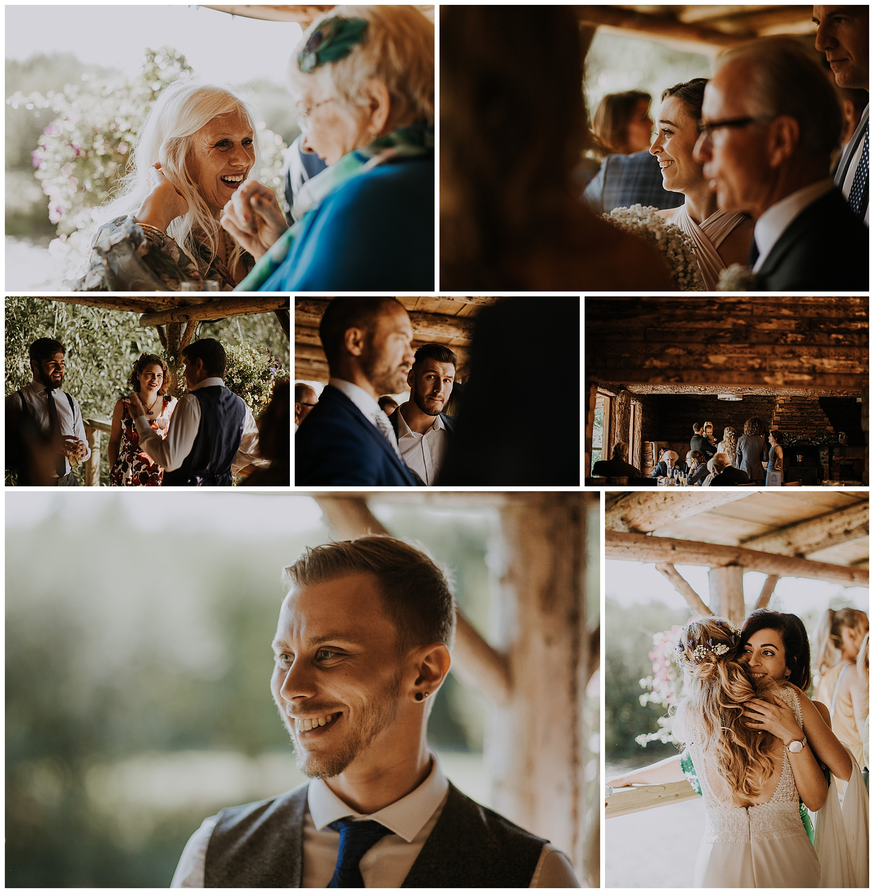 candid images of people at a wedding