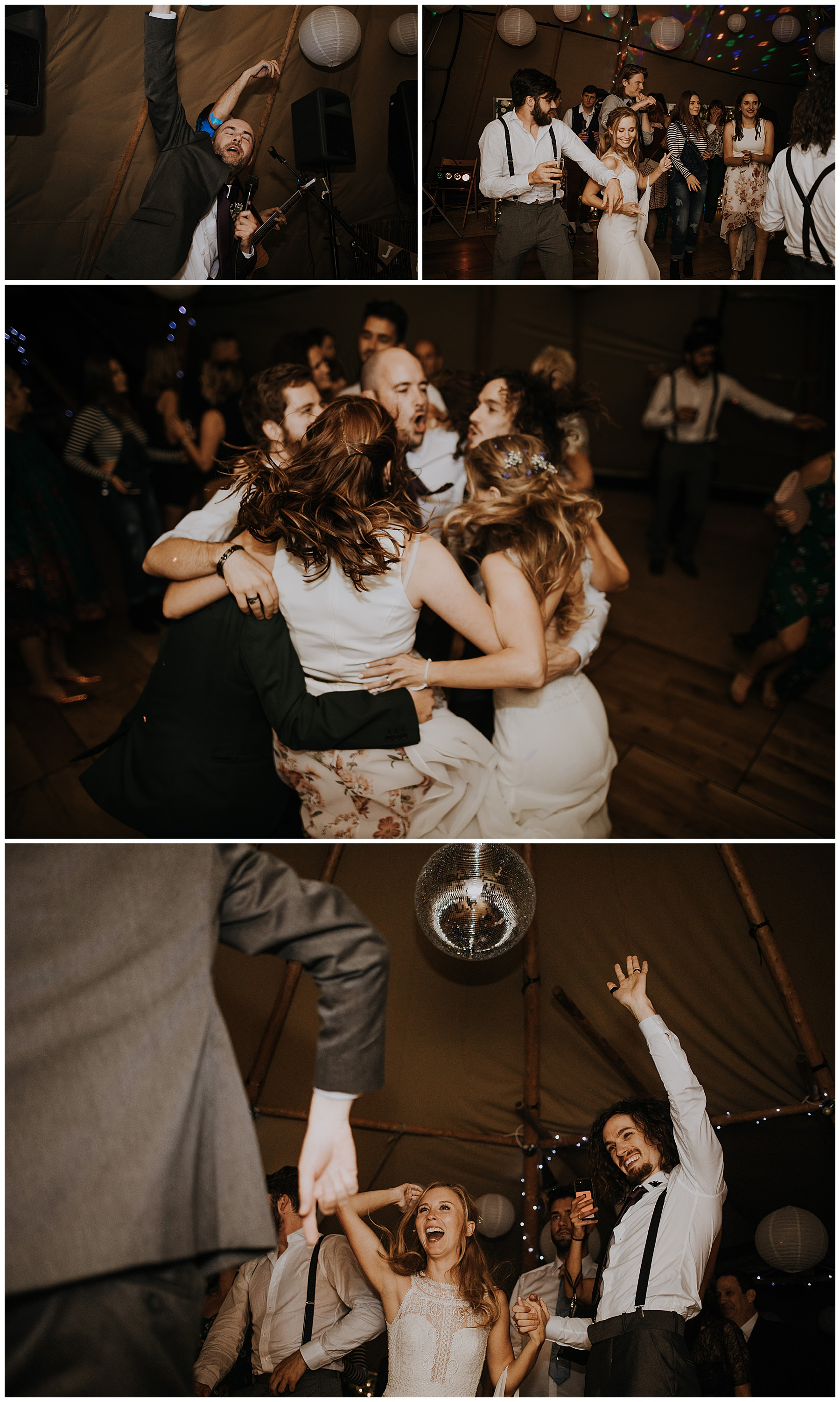 friends dance together in a circle