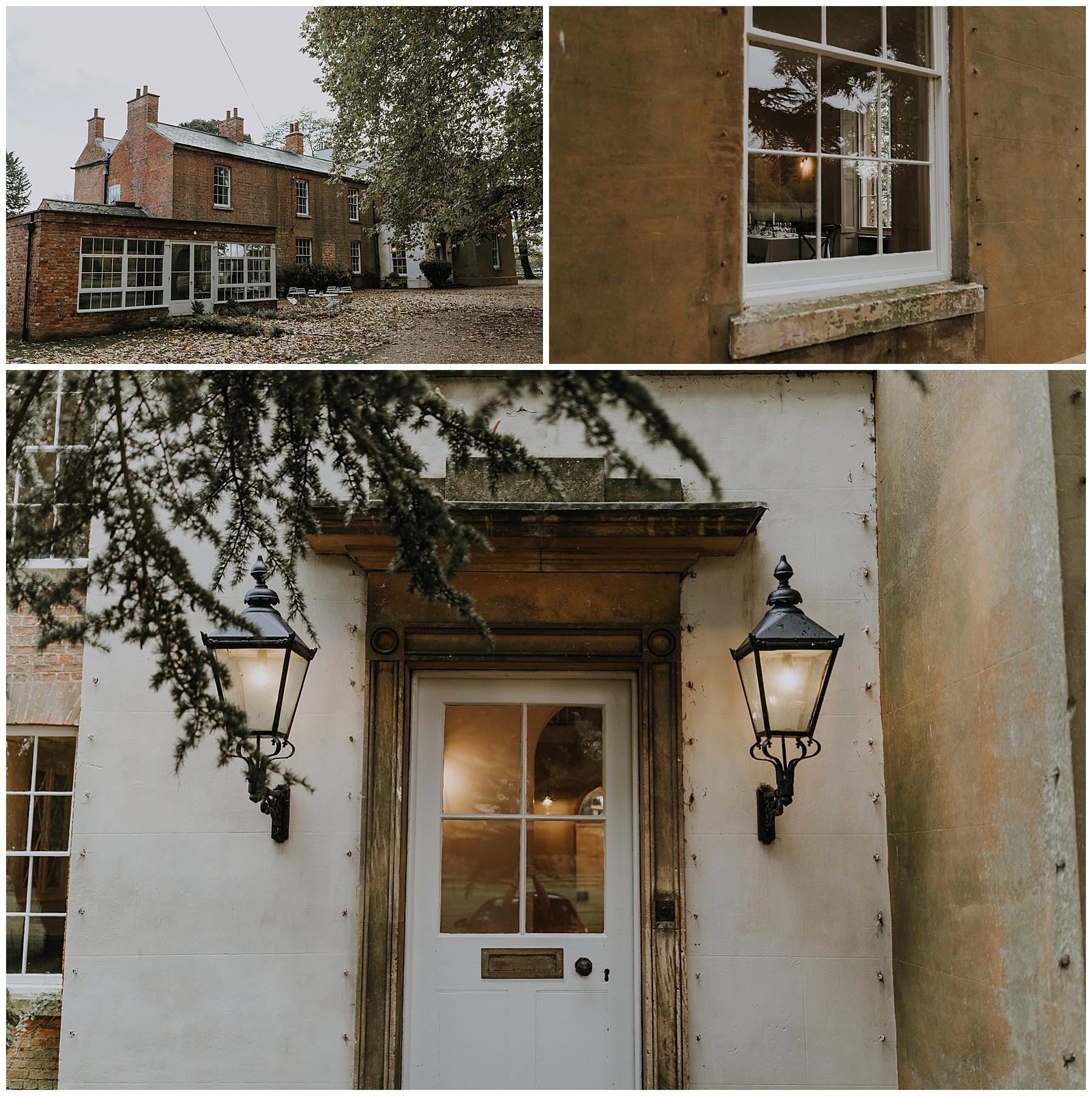 a wintry doorway scene